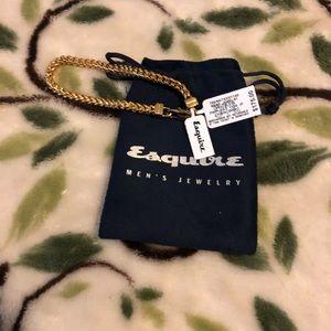 Esquire men's gold bracelet